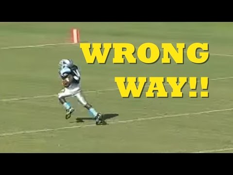 Football blooper!  Player runs wrong way after fumble recovery, scores safety not touchdown
