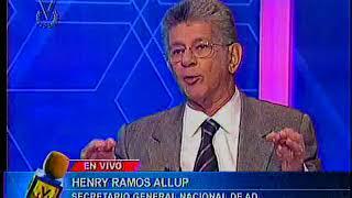 Entrevista Venevisión: Henry Ramos Allup, secretario General Nacional de Acción Democrática
