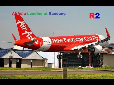 AirAsia A320 Landing at Bandung