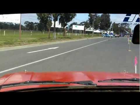 VMC 2011 Rd 7 at Bendigo - Crossover Test - Escort in car footage