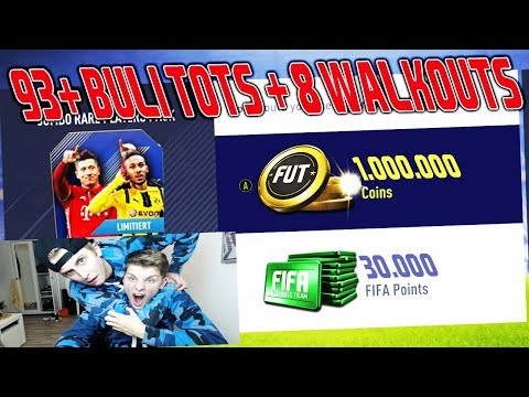 93+ BULI TOTS + 8 WALKOUTS im ultimativen 1.000.000 COINS PACK 😱🔥 Fifa 18 Pack Opening Ultimate Team