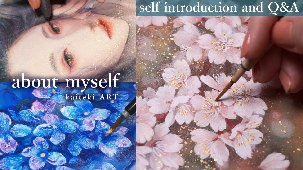【🎊10万人】作品と見る自己紹介/Q&A🙋 [Eng sub] Introduction about myself and Q&A with painting digest🎨