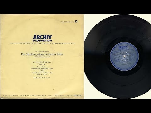 Edith Picht-AxenfeId (harpsichord) J.S. Bach,  Clavier-Übung  Zweyter Theil  (BWV 831 and 971)