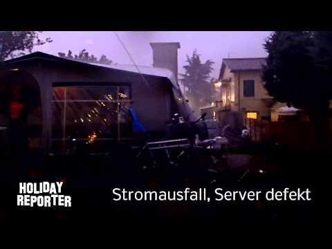 Unwetter in Bayern und Italien
