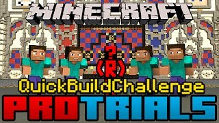Minecraft Quick Build Challenge - Pro Trials Final: Head Tree Goat Shrine!
