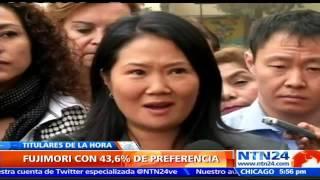 Keiko Fujimori encabeza nueva encuesta de cara a la segunda vuelta presidencial en Perú