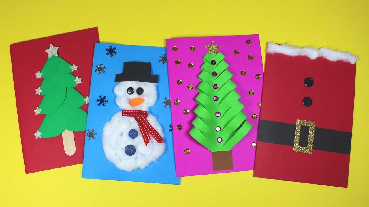 Snowman Christmas Cards Ideas.Diy Christmas Card Ideas Christmas Craft For Kids