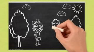 1 Сентября.  День знаний. Рисованное видео.