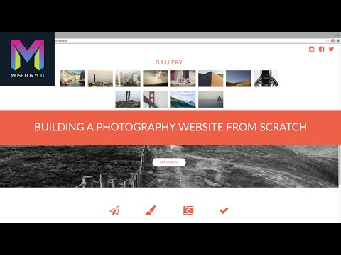 Building a Photography Website from Scratch | Adobe Muse CC | Muse For You