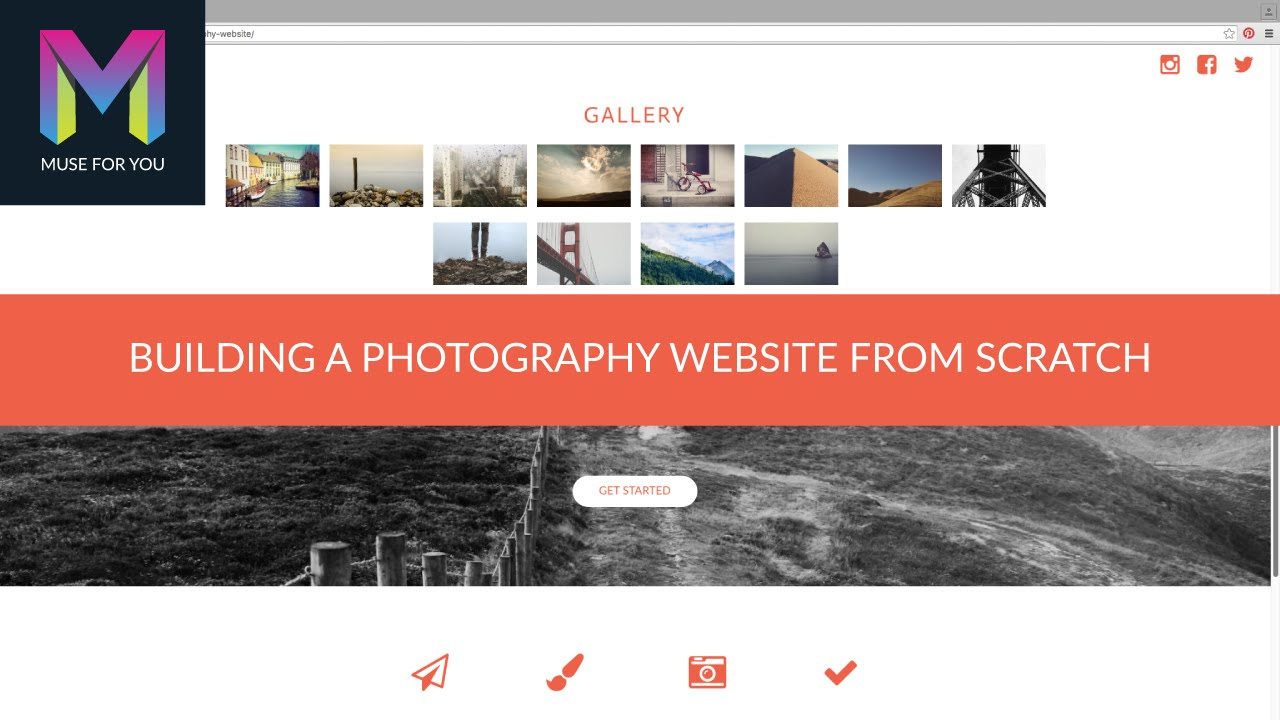 Building A Photography Website From Scratch Adobe Muse Cc Muse