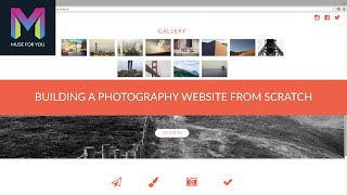 Building a Photography Website from Scratch   Adobe Muse CC   Muse For You