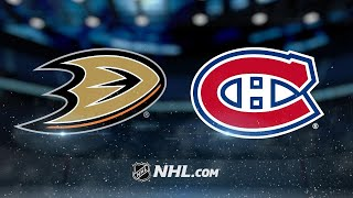 Petry, Niemi lead Canadiens past Ducks, 5-2