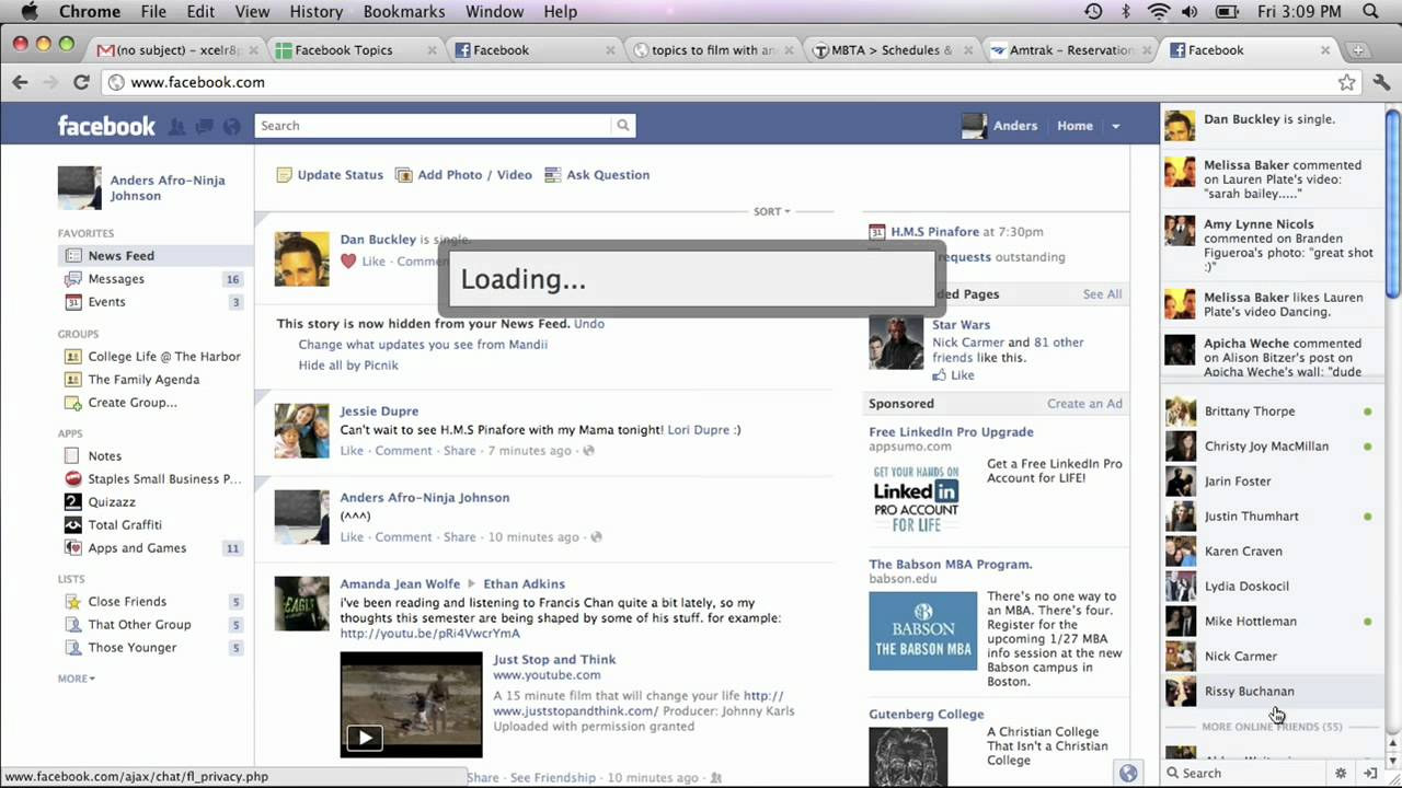 Removing Chat Names On The Facebook Bar : Facebook Basics