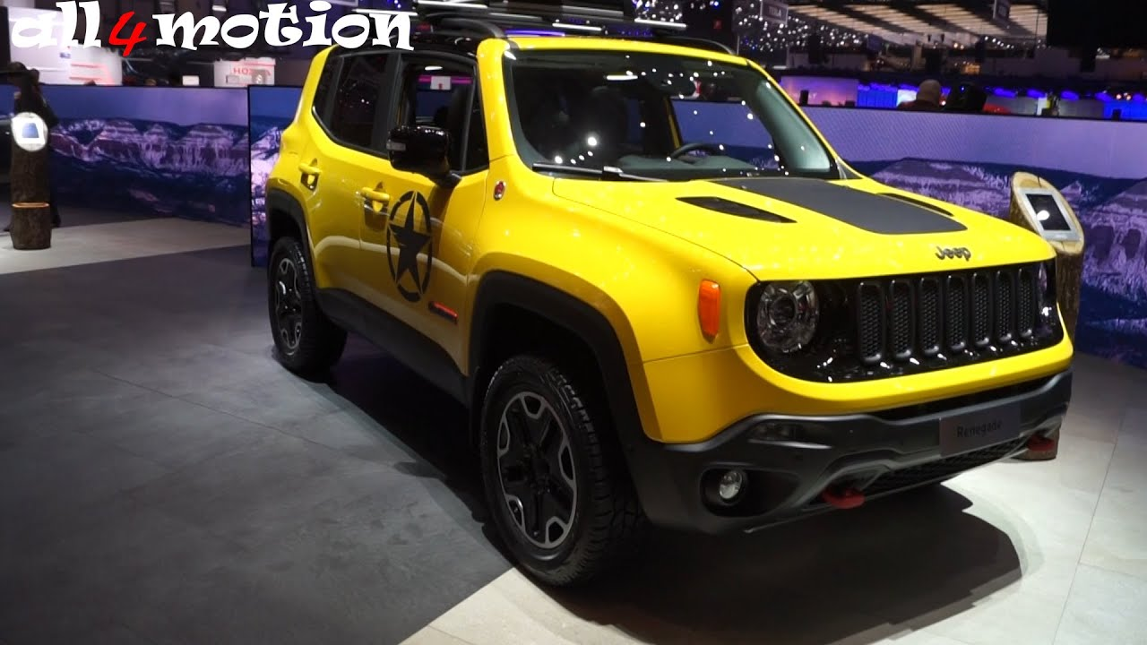 2016 jeep renegade trailhawk 4x4 geneva motorshow youtube. Black Bedroom Furniture Sets. Home Design Ideas