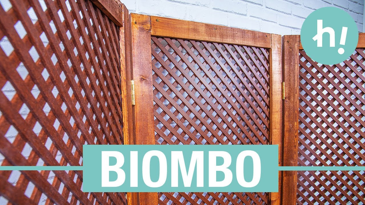 C mo hacer un biombo de madera handfie diy youtube - Como hacer un biombo ...