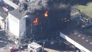 化学工場で火災 静岡・富士市