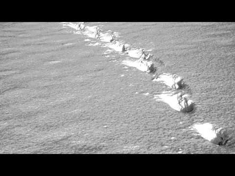 (3D binaural sound) Asmr walking in snow sound effect