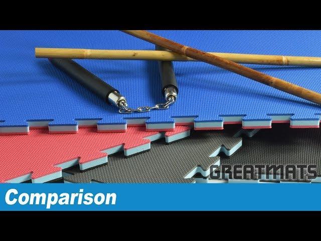 Martial Arts Mat Textures: Tatami, Smooth, Thatch