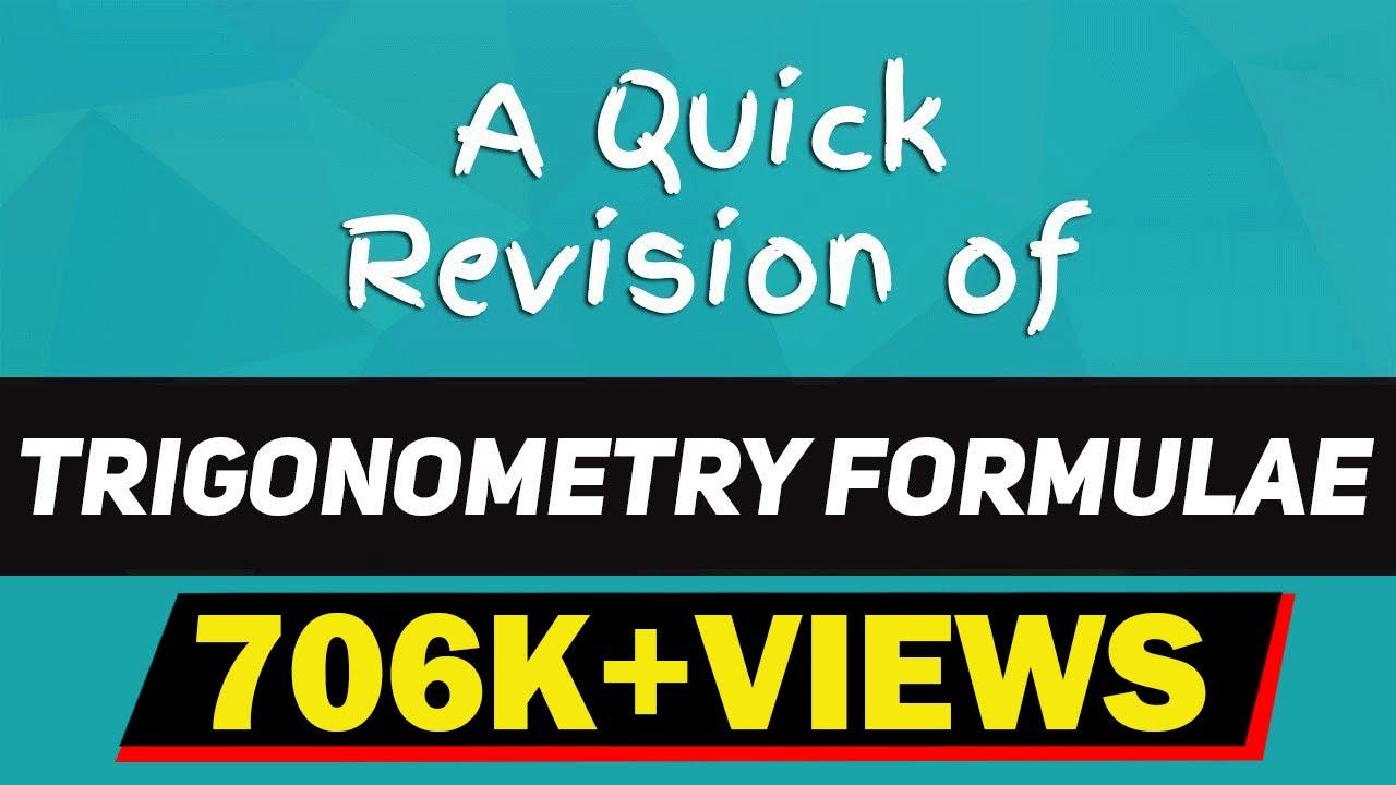 Amazing Tricks to Understand Trigonometry Formulae |Basic ...