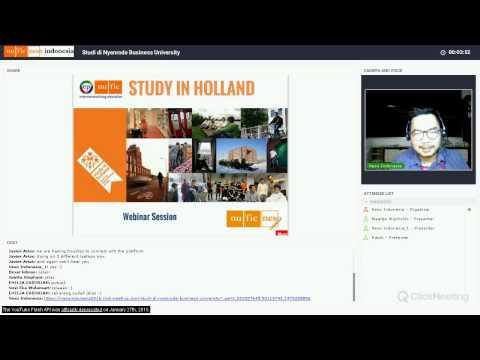 Webinar Study in Holland: Nyenrode & Nuffic Neso Indonesia, Nov 2016