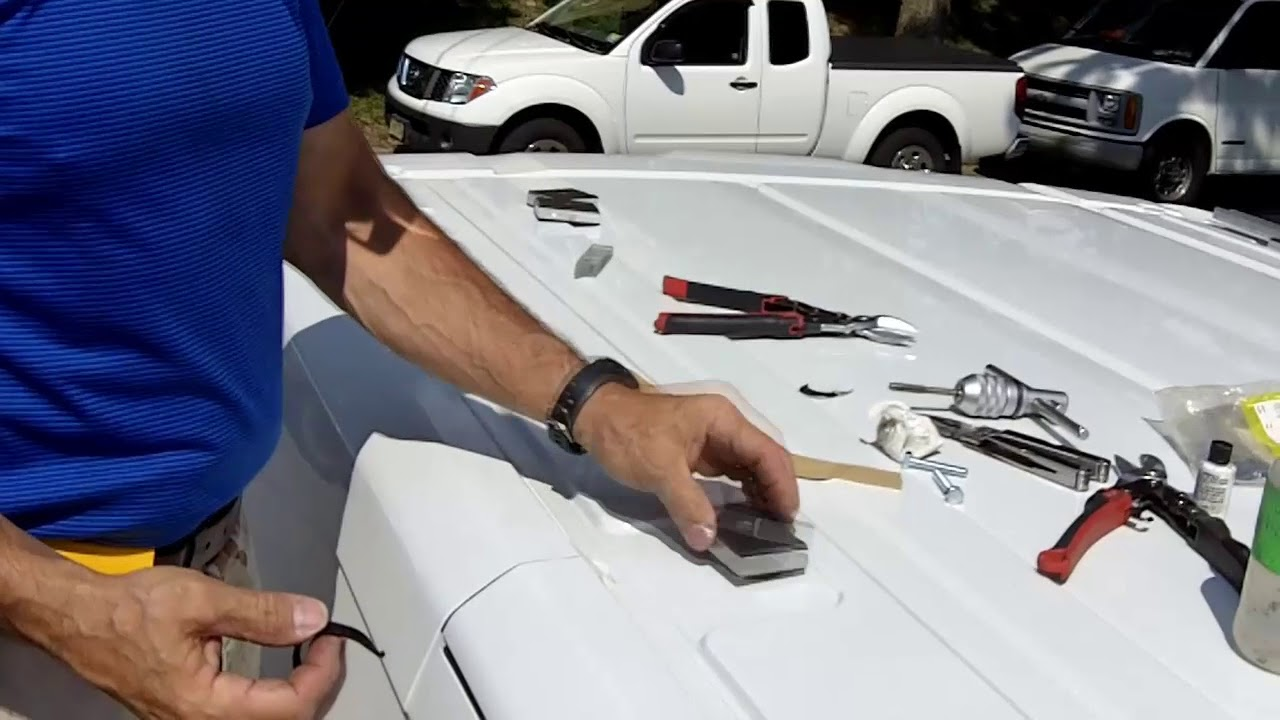 Installing A Roof Rack On The Ford Transit Van Youtube