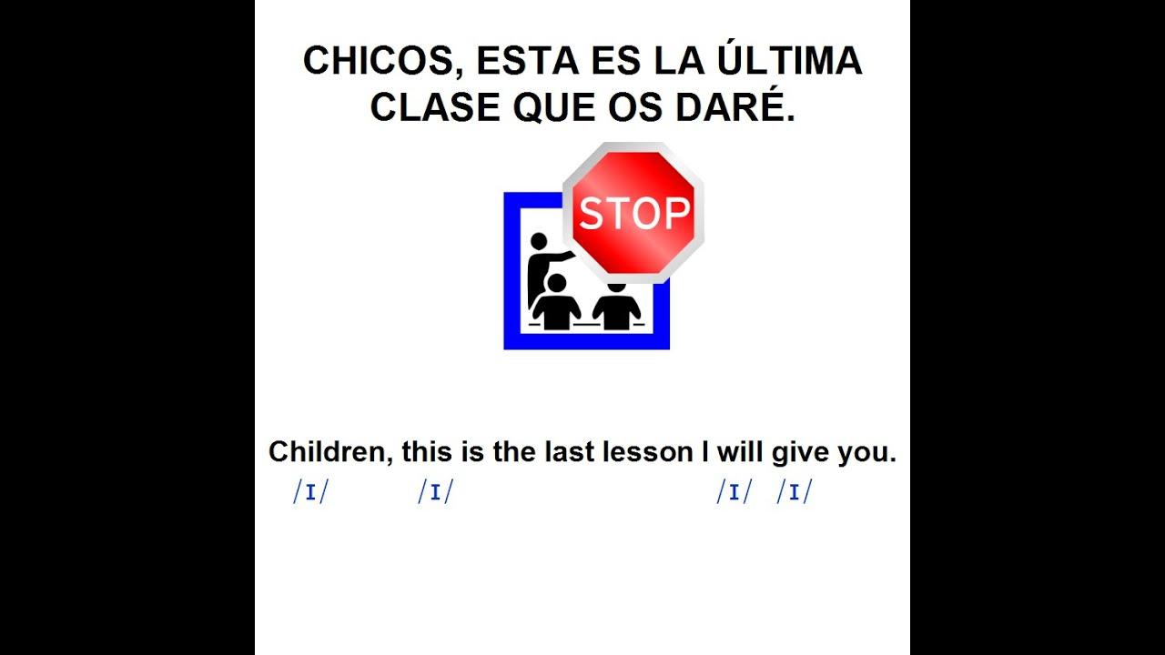 Historia Corta: The Last Lesson (Part 1). Aprende Inglés ...