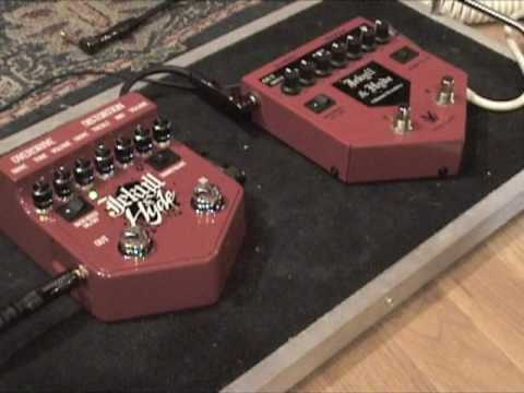 Visual Sound Jekyll & Hyde Version 1 & V 2 guitar effects pedal shootout w Tele & Jaguar Twin