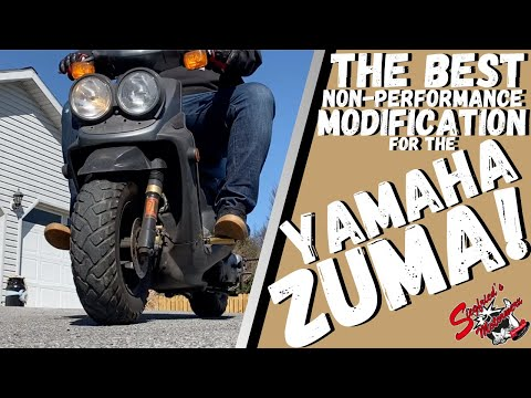 This Mod Makes The Yamaha ZUMA Go From Good To GREAT!  The Best Part Money CAN BUY!