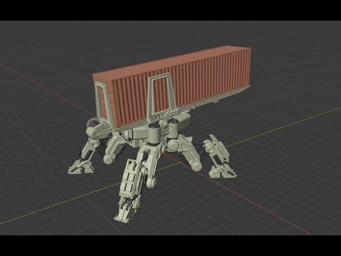 3d Mech modeling timelapse Blender