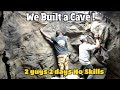 We Built a Cave! Turned an ugly shower into a Man cave! Extreme bathroom remodel!