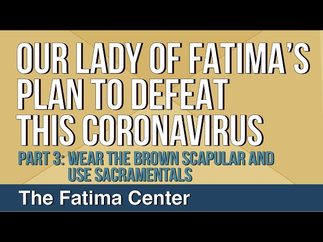 Our Lady of Fatima's Plan to Defeat This Coronavirus: Part 3 - The Brown Scapular and Sacramentals