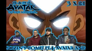 """The Final Battle! Avatar The Last Airbender 3 x 21 """"Sozin's Comit Pt.4: Avatar Aang"""" Reaction/Review"""