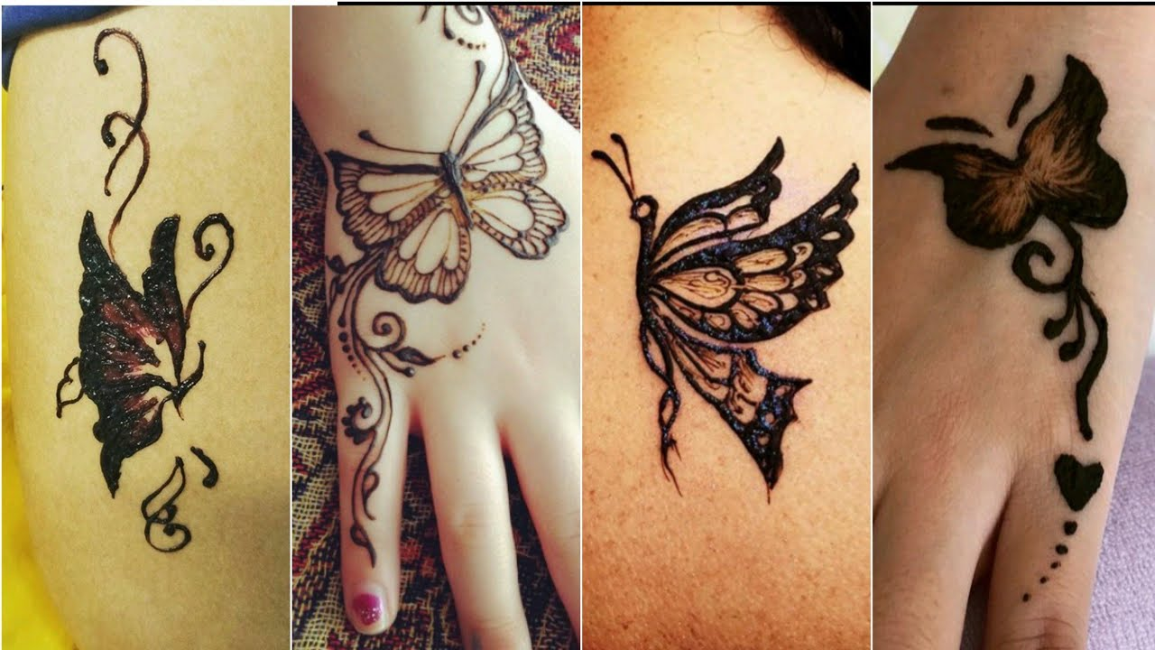 Butterfly Henna Tattoo: Butterfly Henna Design Ll Henna Tattoo Designs Ll 2019