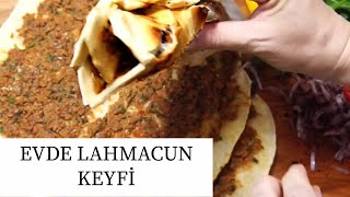 How to make turkish flat bread pizza at home / Pastry works / Figen Ararat