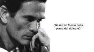 """""""Padre nostro che sei nei Cieli"""" di Pier Paolo Pasolini"""