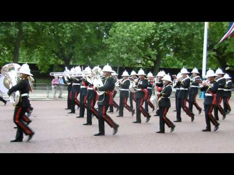 The Band of Her Majesty's Royal Marines Waterloo 200 Parade London
