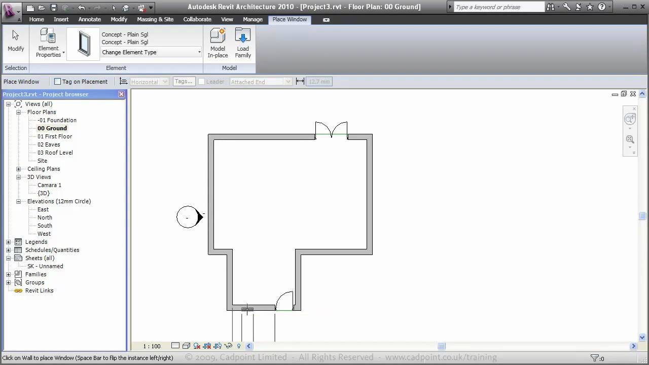 Revit architecture for residential house design 1 youtube for Home architecture you tube