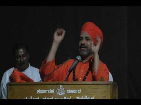 Nijagunananda Swamiji  speech at SHIMOGA (SRI MALLIKARJUNA CHARITABLE TRUST ) SHIMOGA