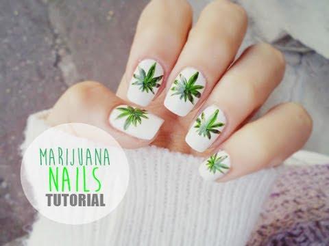 Tutorial Manichiura Frunze De Marijuana Tutorial Marijuana Nails