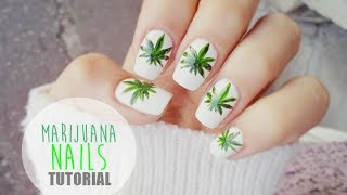 Tutorial Manichiura frunze de marijuana/ Tutorial Marijuana Nails - DBB