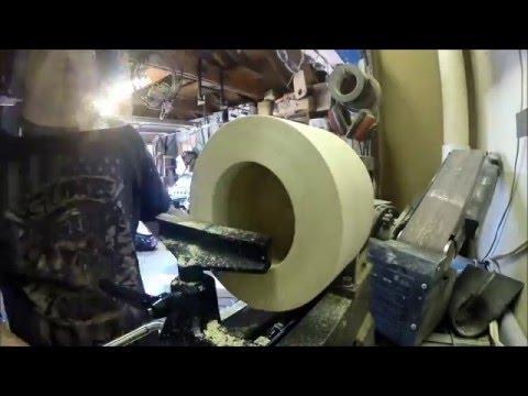 Turning A Small Segmented Poplar Bowl