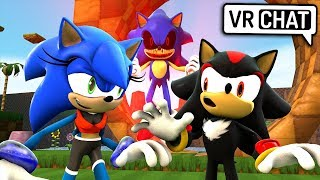 Female Sonic & Shadow Meet Sonic.EXE! (VR Chat)