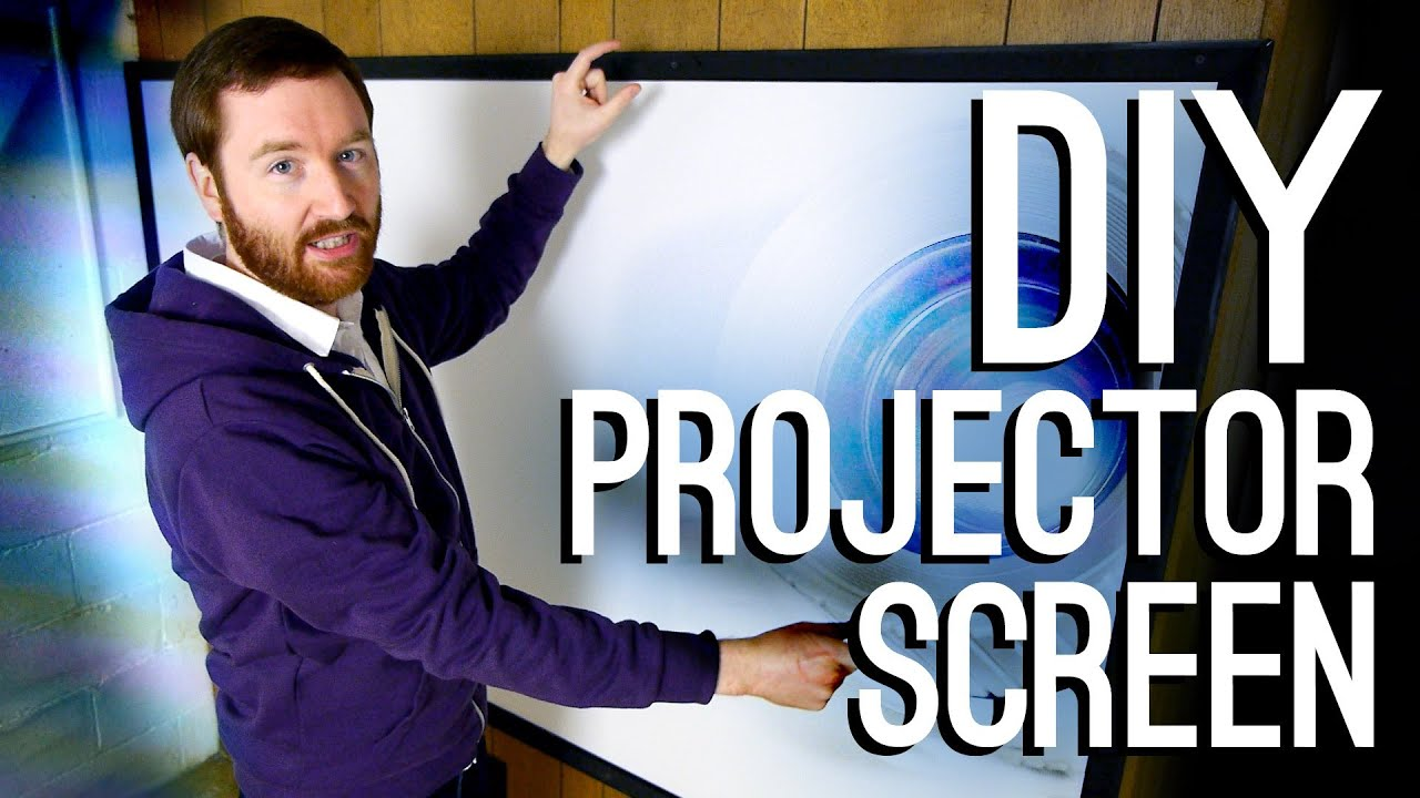 How to Build a DIY Projector Screen - YouTube