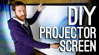 How to Build a DIY Projector Screen(For under $70, Griffin builds a classy 93-inch fixed projection screen! Also, where to buy cheap screen material—blackout cloth—and how to add a DIY tripod ..., 2014-01-21T23:12:48.000Z)