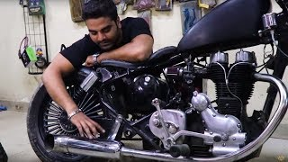 Modified / Custom Bobber on Royal Enfield - Part 2 - King Indian