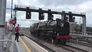 70000 Britannia on Saphos trains at Cardiff Central July 20th 2019