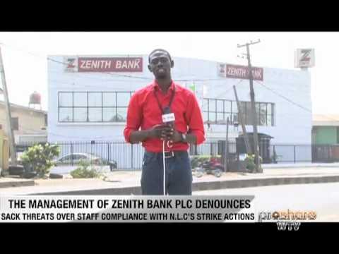 Zenith Bank is on strike - 110112