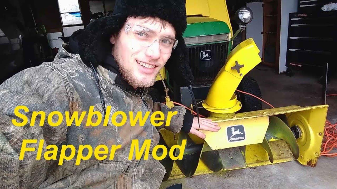 John Deere Snowblower Rubber Flapper Mod