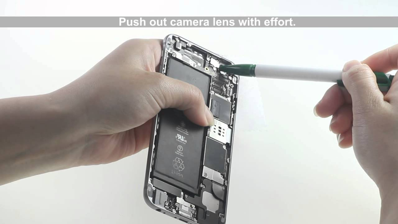 huge discount 5f9b2 3218f How to replace scratched/ cracked iPhone 6 Camera lens? - Replacement  Tutorial