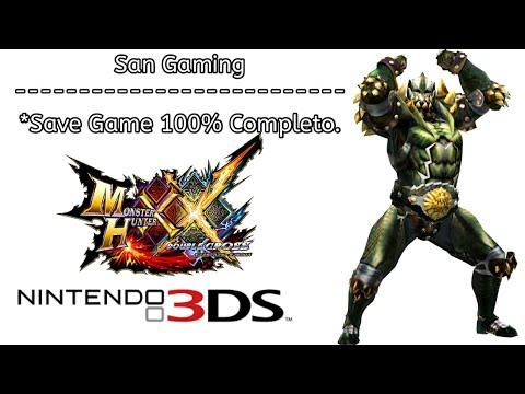 MHXX - Download Savegame 100% tutorial (nintendo3ds)
